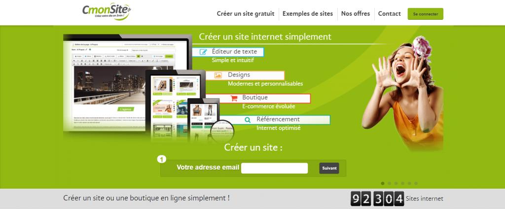 cmonsite : plateforme pour créer site web