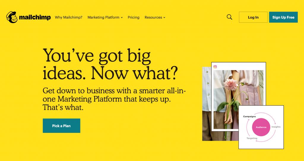 Mailchimp : plateforme pour newsletter : leader du marché