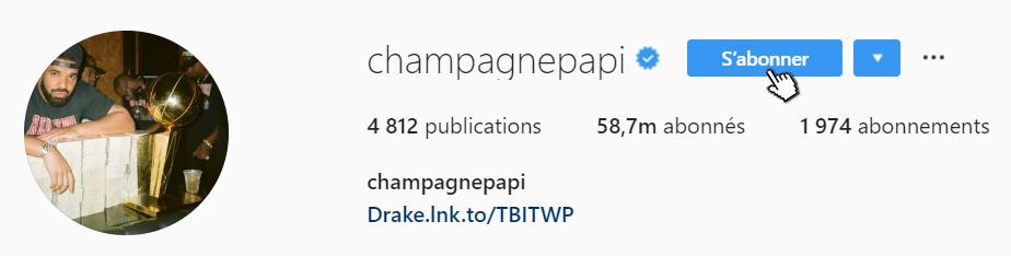 Compte instagram Famous