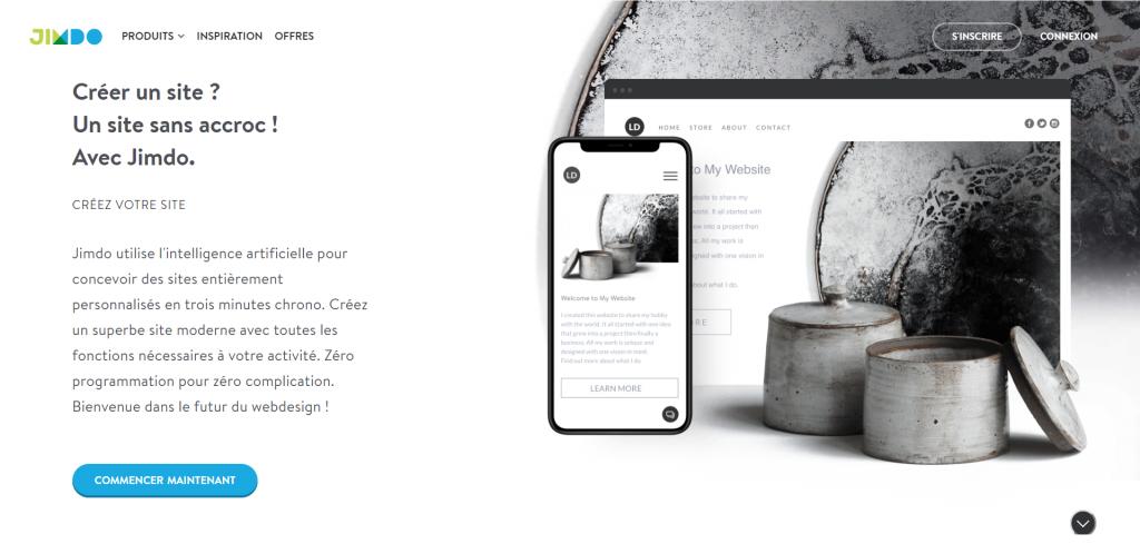 Jimdo : plateforme pour créer un site internet