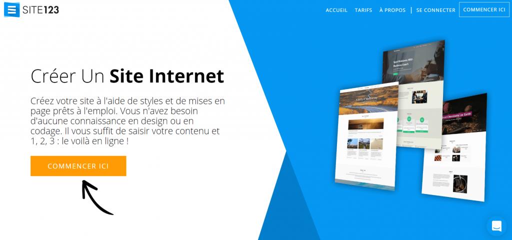 123site : plateforme pour créer un site