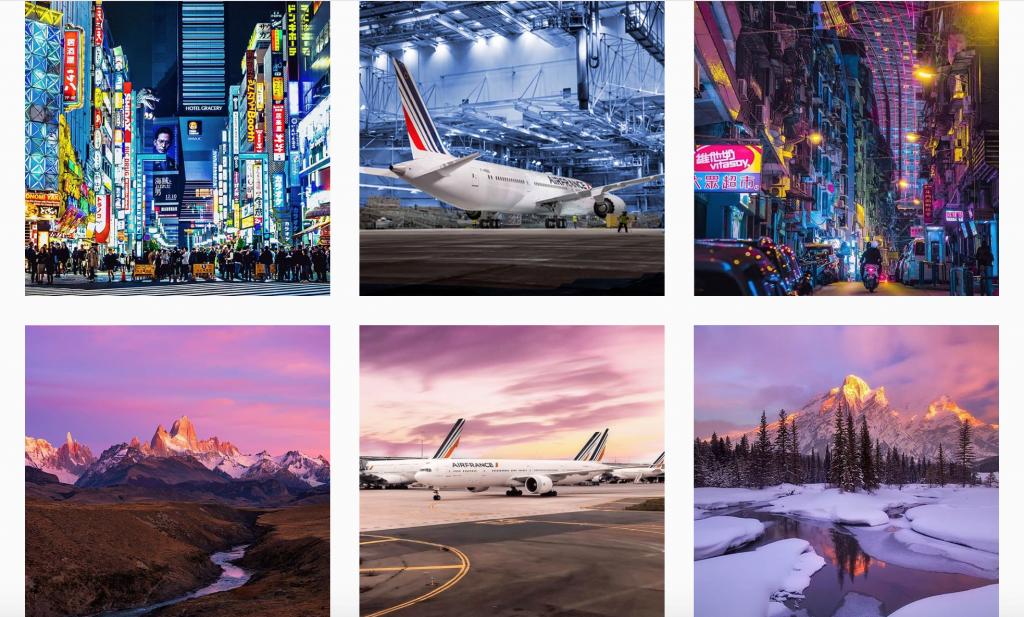 Air France garde une certaine cohérence pour avoir plus de followers sur leur page