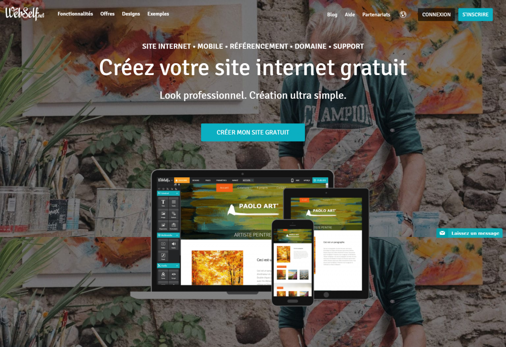 Webself : plateforme web de création
