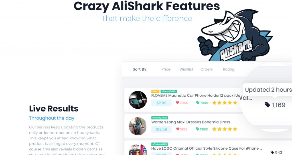 AliShark est un outil pour trouver des produits de niche pour le DropShipping