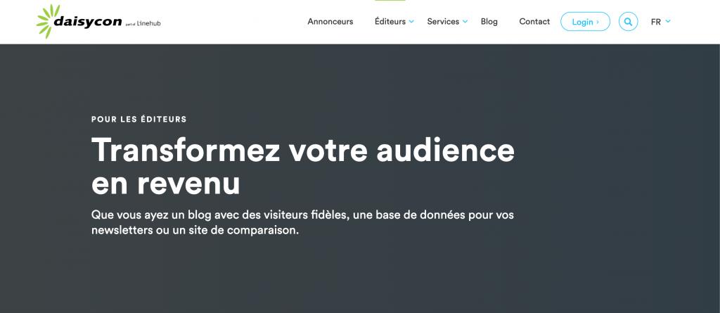 monetiser son site web avec daisycon