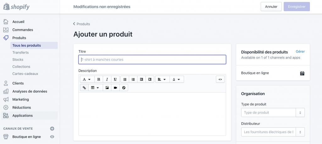 Ajouter un produit et enfin créer un site de DropShipping