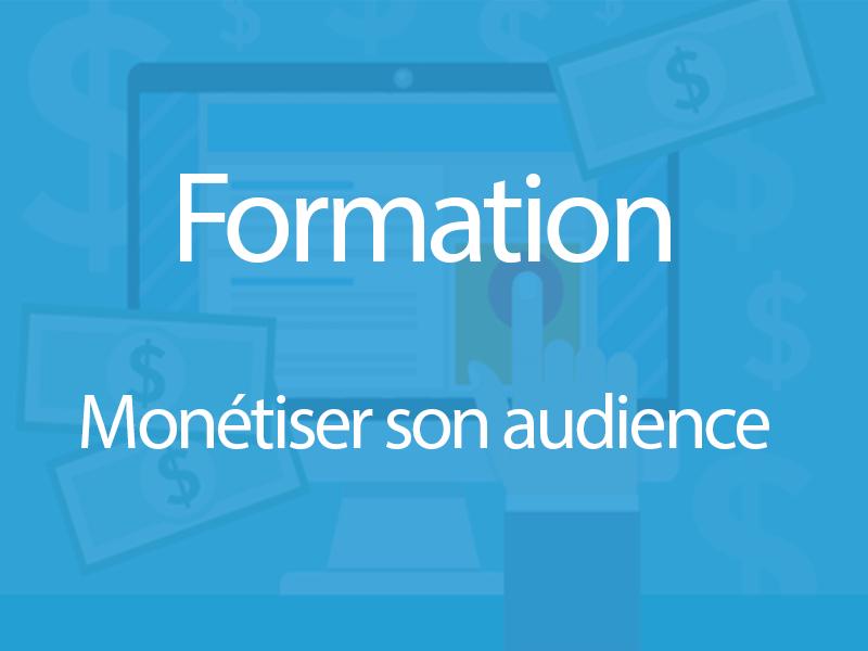 Formation digitale pour monétiser son audience web