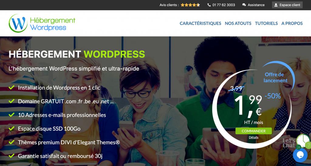 Hébergement WordPress spécialisé