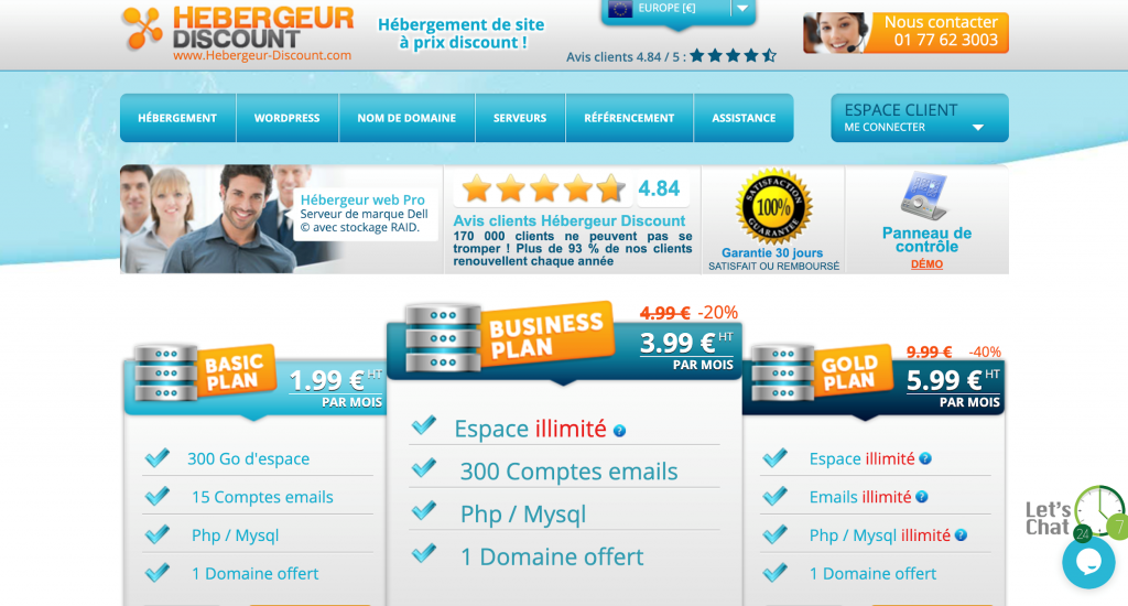 Hebergeur Discount : meilleur hébergement web à prix discount ?