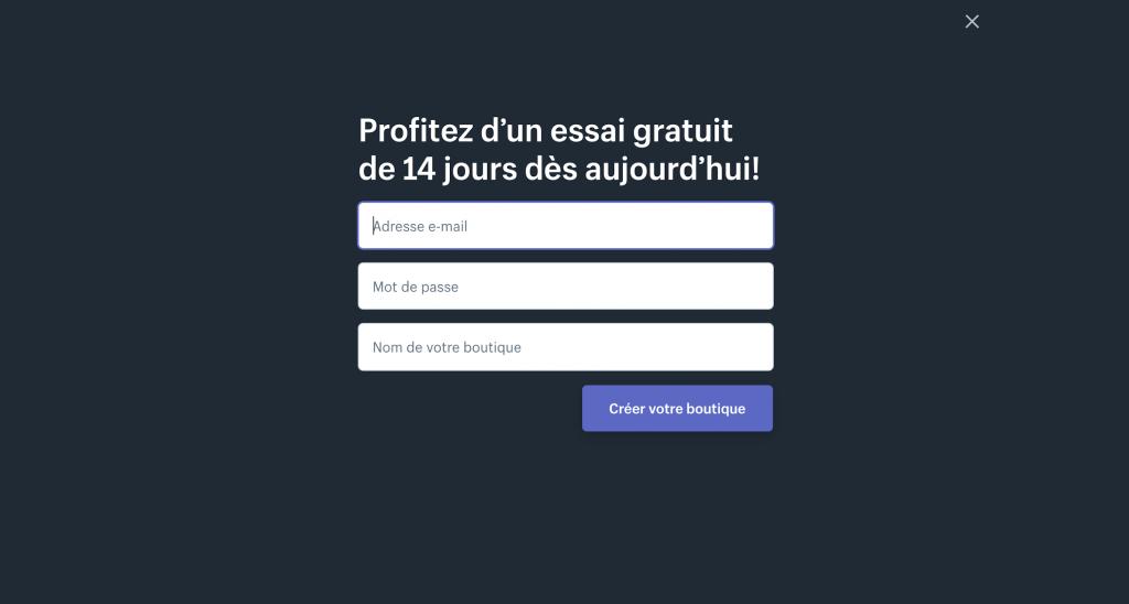 Inscription sur Shopify : plateforme de DropShipping