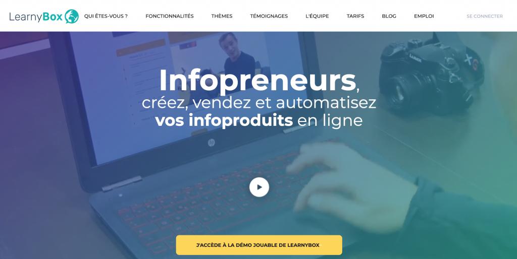Plateforme pour entrepreneurs et formation en ligne : LearnyBox