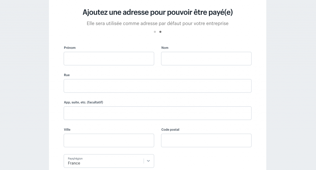 Renseigner les informations sur Shopify
