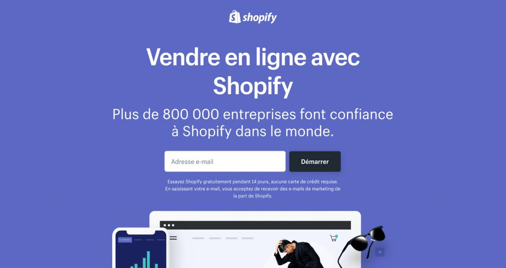 Shopify pour créer un site de DropShipping
