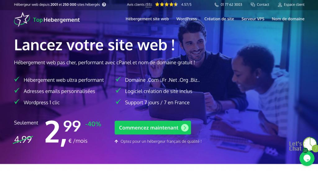 TopHebergement :  le meilleur hébergement web pas cher
