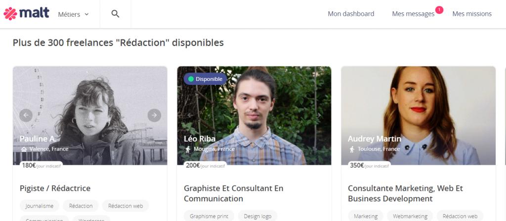 Trouver un rédacteur web sur Malt