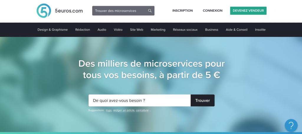 5euros.com plateforme francaise pour faire sous-traiter son travail