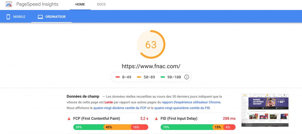 Une note permet de mieux savoir comment améliorer la vitesse de chargement de son site wordpress